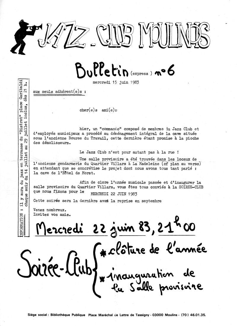 Jazz Club Moulinois Histoire Du Club